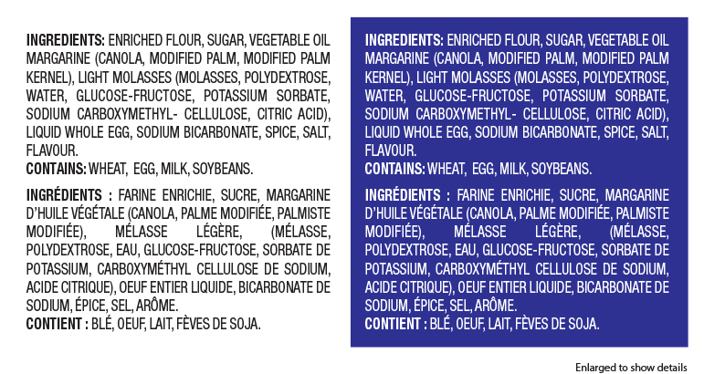 Canadian Ingredients – Background Colours & New Format